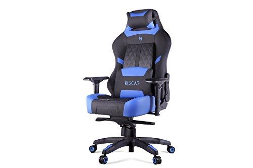 N Seat Pro 600 Series Executive Racing Design Computer Gaming Office Swivel Chair with Lumbar...