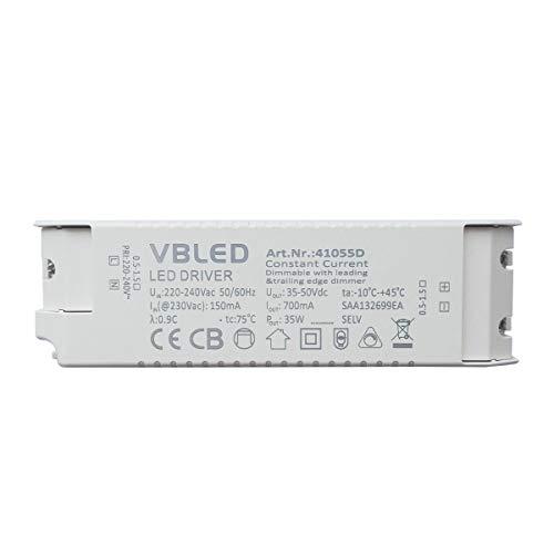 VBLED LED Netzteil Konstantstrom 700mA / 35-50V DC/max. 35W / Dimmbar