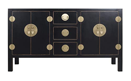 Fine Asianliving Buffet Chinois Commode Chinois Meubles Chinois Armoire de Mariage Chinoise Style Rangement Chinois Mobilier Oriental Armoire Orientale Asiatique Mandarin Pekin 160 x 90 x 50