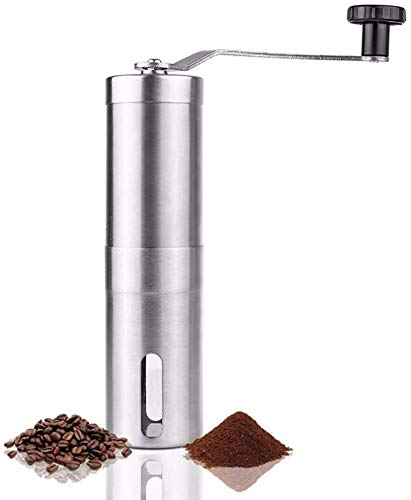 Manual Coffee Grinder, Conical Burr Coffee Grinder, Portable Hand Crank Coffee Grinder For Travel, Adjustable for Fine/Coarse Grind, Best For Espresso, French Press, Cold & Turkish Brew