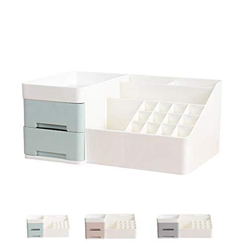 DXIA Organizador Maquillaje, Organizador para cosméticos, Maquillaje Cosméticos Joyería Organizador, Compartimento de Almacenamiento de Cosméticos con Múltiples, con 6 Cajones (Gris)