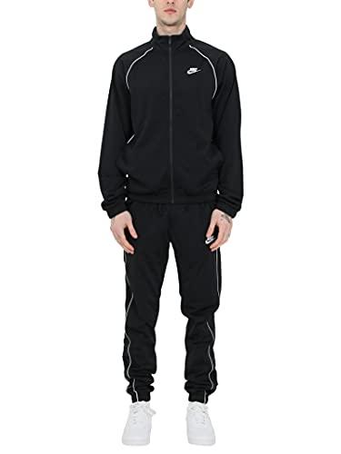 NIKE Sportswear - Chándal para hombre, color negro/blanco/blanco, XL
