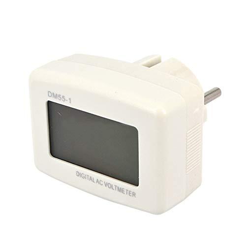 NAttnJf Plug Digital Voltage Meter Tester para medidor de Voltaje Digital LCD Azul AC 80–300V Enchufe de UE 220V voltios Monitor de alimentación