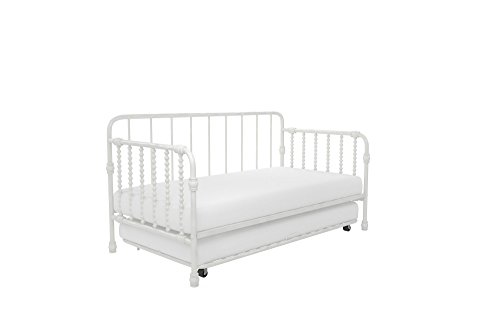 Little Seeds Monarch Hill Wren Metal Daybed with Trundle, Sofa Bed, Twin Size Frame, White