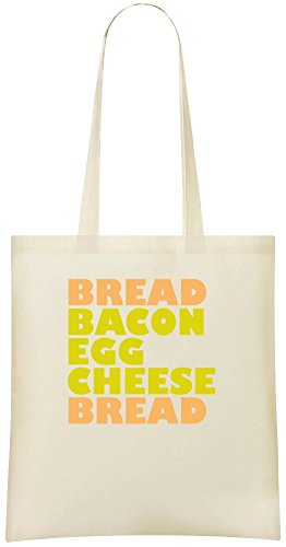Brot Speck Ei Käse Brot - Bread Bacon Egg Cheese Bread Custom Printed Shopping Grocery Tote Bag 100% Soft Cotton Eco-Friendly & Stylish Handbag For Everyday Use Custom Shoulder Bags