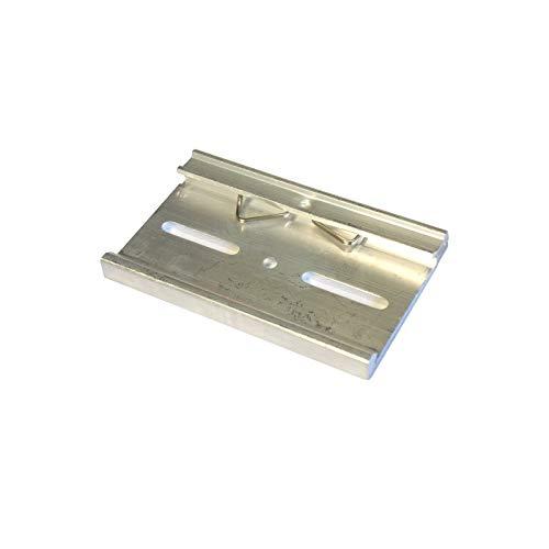 WITTKOWARE Netzteil-Halteclip für 35mm DIN-Hutschiene, Alu, B 80mm