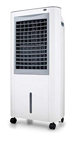 Climatizador evaporativo Yatek YK-M99, 10L de capacidad Y 160 W de potencia, con alerta de escasez de agua y deposito de agua extraible, incluye tableta para el hielo