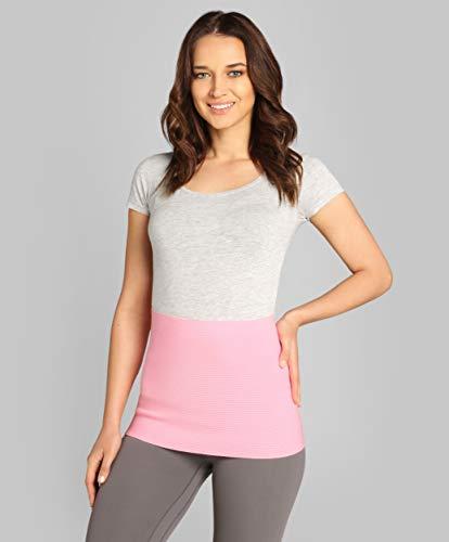 ®BeFit24 Nierenwärmer für Herren und Damen - Rückenwärmer - Wärmegürtel - Nierenschutz - Nierengurt Wärme [ Size 6 - Rosa ]