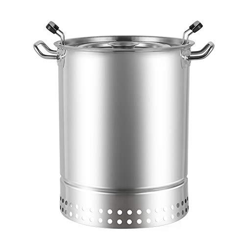 CROWNXZQ Holzkohle-Grillofen, Edelstahl rauchfrei, tragbares Licht, mehr als 5 Personen für Grillen im Freien Kochen Camping Wandern Picknick Party-Tools