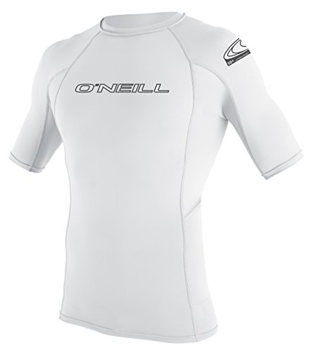 O'Neill Herren Basic Skins Short Sleeve Rash Guard - White, Large