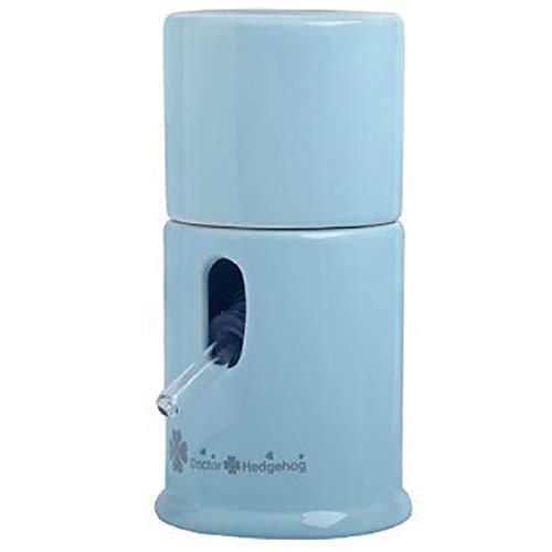 [Cicogna] ハムスター ハリネズミ 水飲み 給水器 陶器 小動物 水 給水 かわいい ウォーター サーバー ボトル タンク スタンド 置き型 (ブルー)