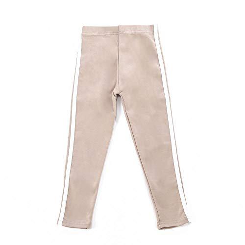 Plus Nao(プラスナオ) レギンスパンツ ロングパンツ サイドライン 長ズボン 子供服 男の子 女の子 男児 女児 キッズ 小学生 ボトムス ライ グレージュ 160