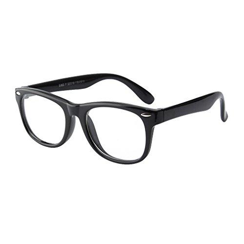 hibote Mädchen Junge Brillen - Silikon - Clear Lens Glasses Frame Geek/Nerd Brillen mit Car Shape Gläser Fall - 18071007