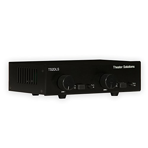 Theater Solutions TS2DLS Speaker Selector Box for 4 Speakers with Dual Source and Volume Controls