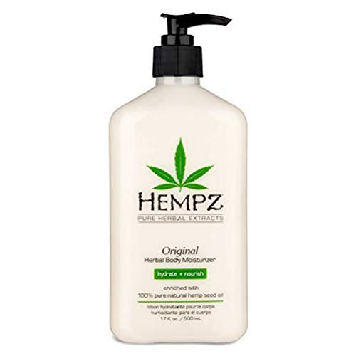 Original, Natural Hemp Seed Oil Body Moisturizer with Shea Butter and Ginseng, 17 Fl Oz