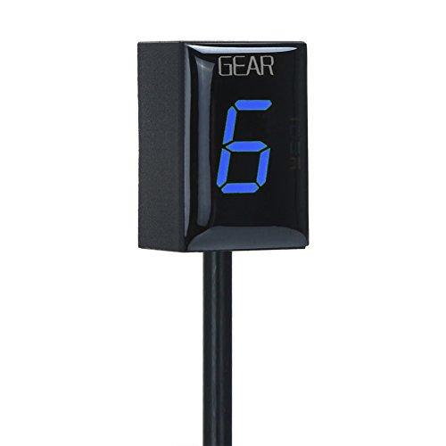 IDEA - Indicatore delle marce per motocicletta, impermeabile, basta collegarlo ed è pronto all'uso, display LED (Blu, Anno 1996-2016)