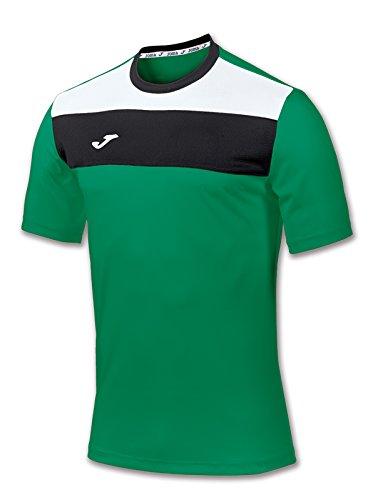 Joma Crew Camiseta de Manga Corta, Hombre, Verde, S