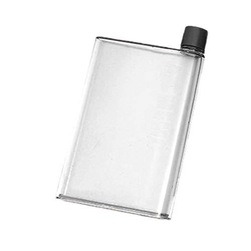 ACEHE Hervidor Plano Cuadrado, hervidor de Papel Creativo 420Ml Hervidor Plano Cuadrado portátil práctico Botella de Agua de plástico para Deportes al Aire Libre para Correr