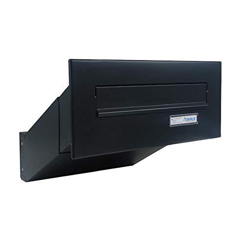 D-041 Anthrazit (RAL 7016) Mauerdurchwurf Briefkasten mit Namensschild (Tiefe: 23-38 cm) - LETTERBOX24.de