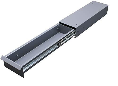 TecLines TUS009A Untertisch Schublade 140mm breit, inkl. Gummimatte, Aluminium