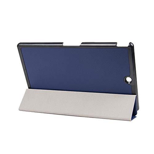 Kepuch Custer Funda para Sony Xperia Z3 Tablet Compact,Slim Smart Cover Fundas Carcasa Case Protectora de PU-Cuero para Sony Xperia Z3 Tablet Compact - Azul