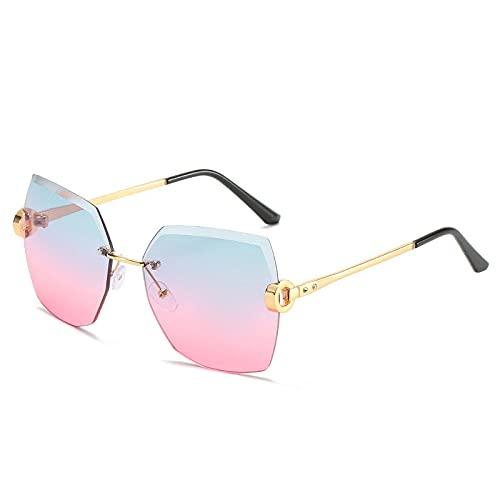 Único Gafas de Sol Sunglasses Gafas De Sol Sin Montura para Mujer Gafas De Sol Vintage para Mujer Gafas De Diseñador De
