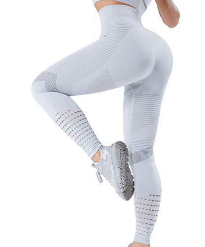 OUTUOSI Leggins Donna Push Up Vita Alta Pantaloni Sportivi Dimagranti Fitness Yoga Snellente Compressione Graduata Neri Sauna Pants