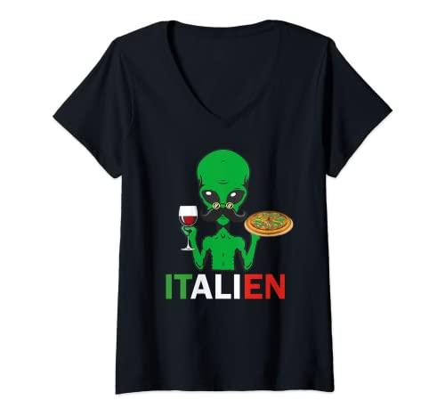 Damen Italien Italiener Alien Wortspiel...