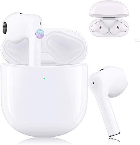 HENGHUA Auriculares Bluetooth, control táctil, Bluetooth 5.0, aislamiento de ruido, con carcasa de carga portátil y micrófono para Android/iOS