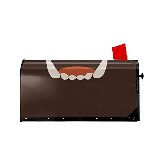 Sunny R Willkommen Mailbox Abdeckungen White Fang Teeth Icon Magnetisch Verpackter Briefkasten Briefkastenabdeckung für Garden Yard Decor 21x18 Zoll