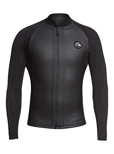 Quiksilver Highline 2mm LTD LS Front-Zip Glide Skin Jacket XKKY-Black-Gold L