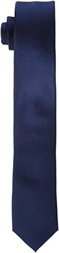 Seidensticker Herren Krawatte Schmal , Blau (Blau 19) , 5 cm Breit