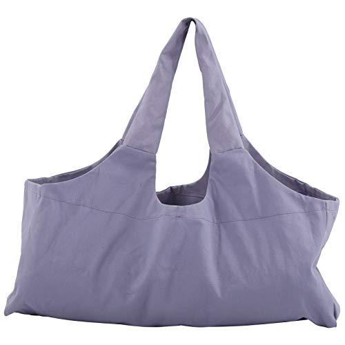 FECAMOS Bolsa de Yoga de Gran tamaño, Liviana y Morada, se Adapta a Todos los tamaños de esterillas de Yoga