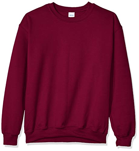 Gildan Men's Fleece Crewneck Sweatshirt, Maroon X-Large