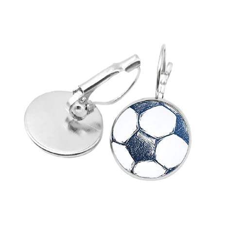Pendientes colgantes de moda para mujer, serie deportiva, fútbol, baloncesto, cristal, cabujón, arte, joyería de regalo