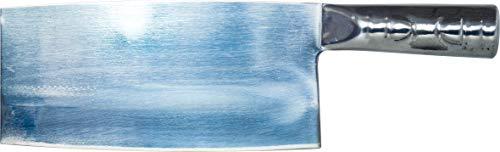 JADE TEMPLE - Cuchillo de cocina, macheta de carnicero asiático, mango de metal, acero inoxidable, plateado, longitud de la hoja: 18,2 cm
