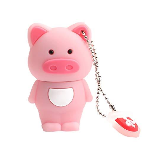 Chytaii. USB-Flash Drive süßes Tier Schwein Muster USB 3.0 Mini USB 2.0 4GB 8GB 16GB 32GB 64GB für Büro Zuhause DIY (4G)
