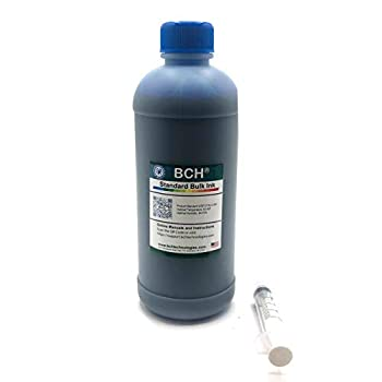 BCH Standard Universal Cyan Refill Ink - 500 ml  16.9 oz  Photo Dye for All Printers  HP Canon Epson Lexmark Brother and Dell Printers
