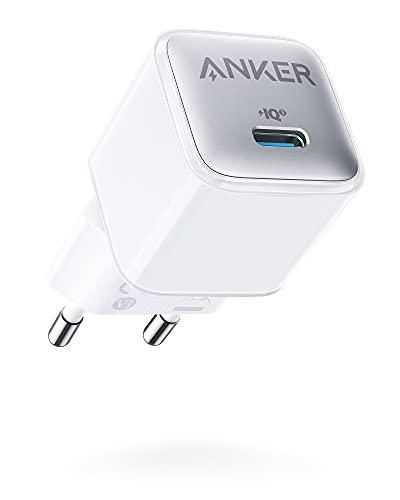 Anker Cargador 511 (Nano Pro) 20 W PIQ 3.0 Cargador rápido Compacto Duradero, Cargador USB C para 13/13 Mini/13 Pro/13 Pro Max/12, iPad/iPad Mini, Pixel, etc. (Cable no Incluido)