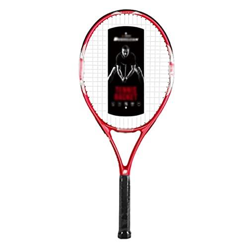 Raquetas De Tenis Profesional Individual Tenis para Principiantes Tenis De Rebote con Cuerda Amortiguadora Profesional (Color : Red, Size : 69.5cm)