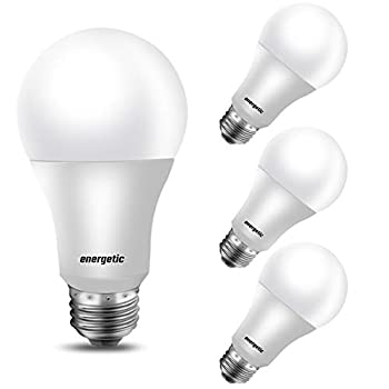 100W Equivalent A19 LED Light Bulb Daylight 5000K E26 Base Non-Dimmable 1600 Lumens UL Listed 4-Pack