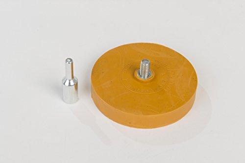 BGS 2x Folien-Plakettenradierer Folienradierer Entferner Bohrmaschine Klebstoffe 3999 Folienplakettenradierer Folien Radierer Plakettenentferner Plakettenradierer Klebstoffreste Radierscheibe Aufklebe