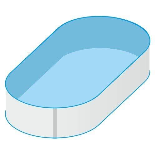 SAXONICA Oval Pool 490 x 300 x 120 cm | Grund Set | Innenhülle 0.8 mm, Basic Handlauf