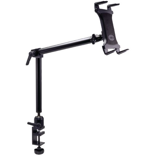 ARKON Heavy Duty Desk or Wheelchair Tablet Clamp Mount with 22 inch Arm for...