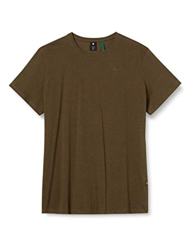 G-STAR RAW Base-s Round Neck Camiseta, Wild Olive Htr 336-2665, M para Hombre