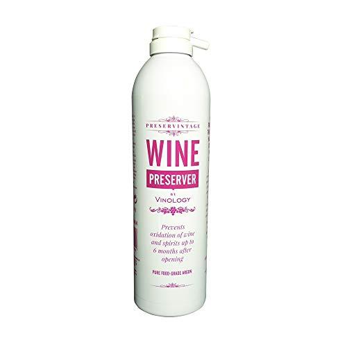 Konservierungsbehälter für Wein und Lebensmittel, reines Argon-Gas, in einer einfach zu verwendenden Aerosoldose.
