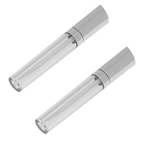 Bonarty 2 Piezas Protable Clear Empty Lipstick Lip Oil Tubos de Brillo de Labios Botellas de Bálsamo Labial 5ML