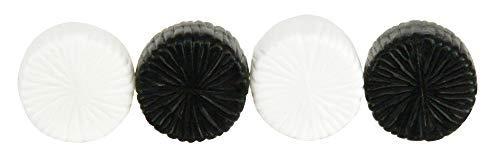 TOMY- Lot de 4 Bottes de Foin pour Adultes Modèle à l'Echelle 1/32 Réplique Adaptée aux Enfants de 3 Ans+, Blanc et Noir, 43142A2