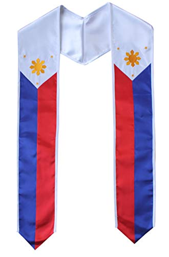 Country Flag Graduation Stole Sash International Graduate (Philippines)