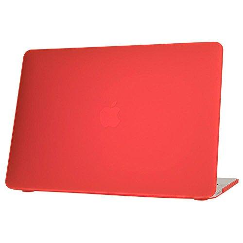 NALIA Custodia Protettiva per Macbook Pro 13 Pollici 2016, Hard-Case Dura Sottile Ultra-Slim Protezione Copertura Rigida, Snap On Cover Shell Fronte & Retro Completa Lucida, Colore:Rosso